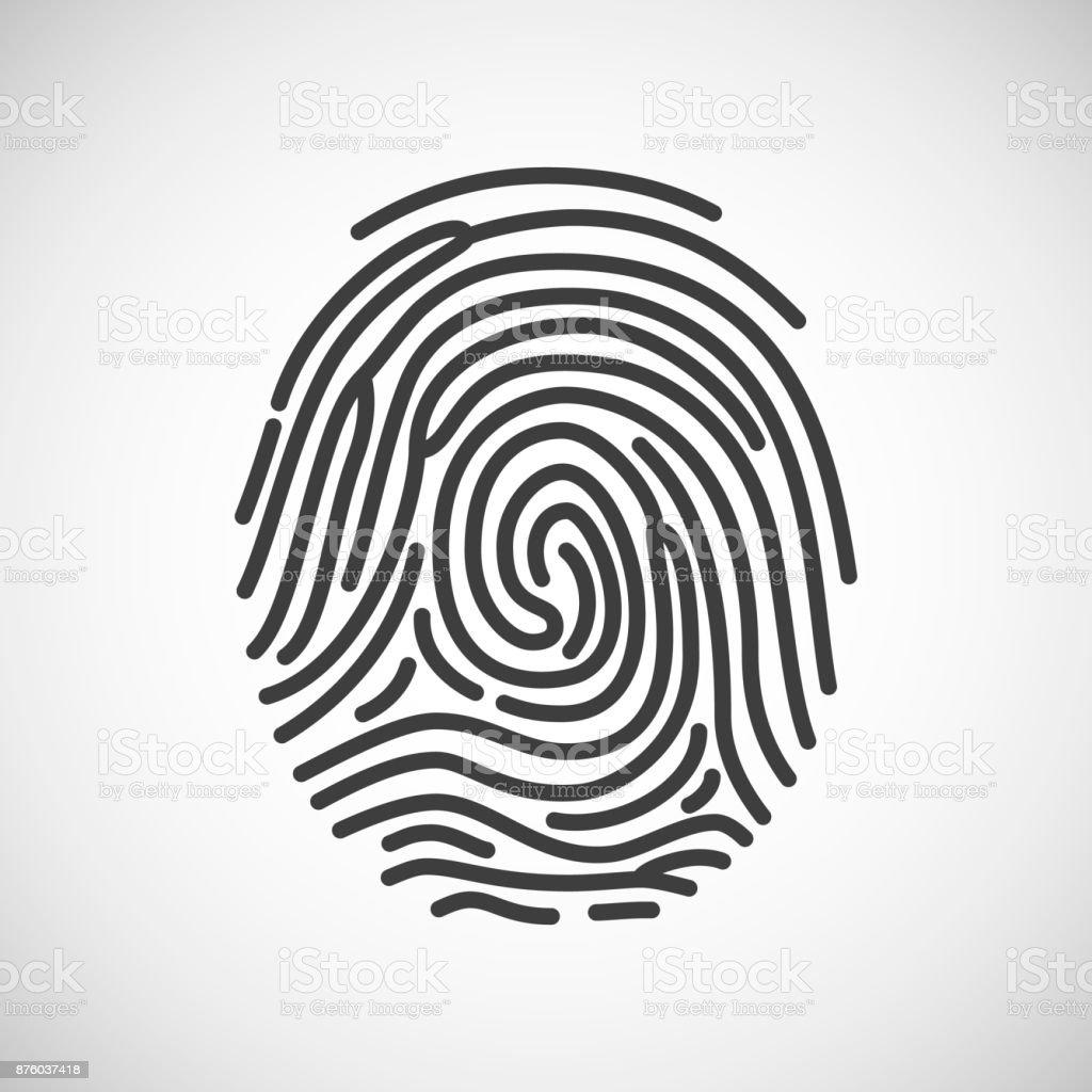 Außergewöhnlich Bild Fingerabdruck Sammlung Von Fingerabdruck-symbol. Isoliert Auf Weißem Hintergrund. Vektor-tration Lizenzfreies