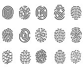 Fingerprint icon set , vector illustration