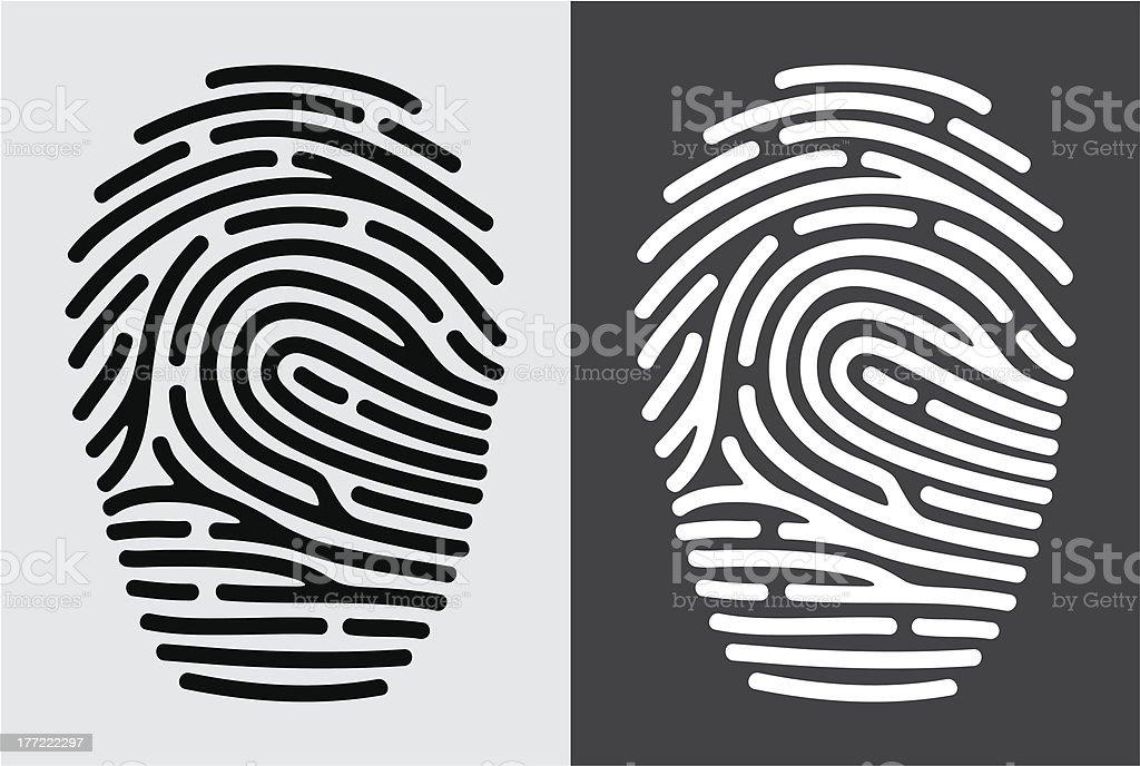 Fingerprint icon royalty-free stock vector art