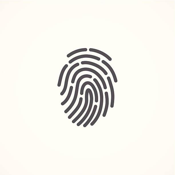 ilustraciones, imágenes clip art, dibujos animados e iconos de stock de huella dactilar icono - robo de identidad