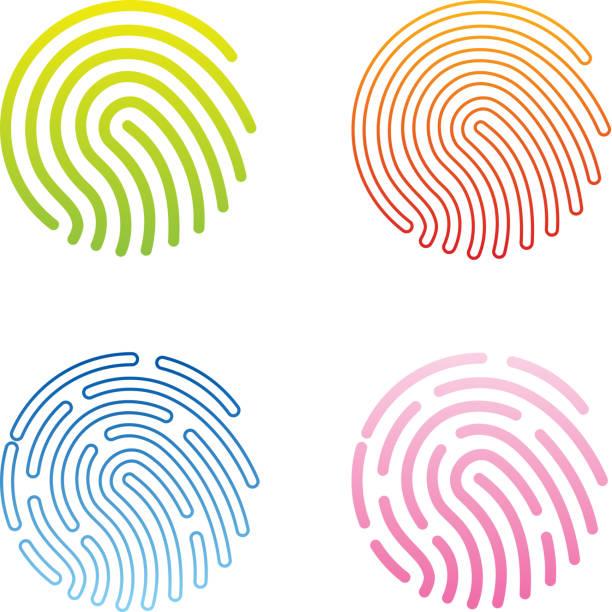 Fingerabdruck-Symbol – Vektorgrafik