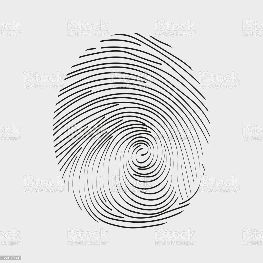Fingerprint Icon Stock Illustration - Download Image Now - iStock