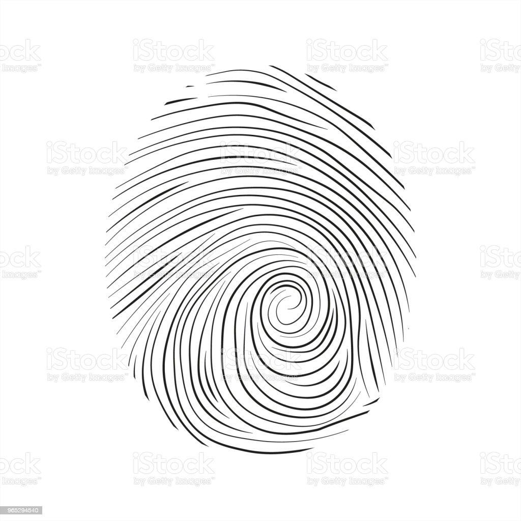 Fingerprint icon fingerprint icon - stockowe grafiki wektorowe i więcej obrazów abstrakcja royalty-free