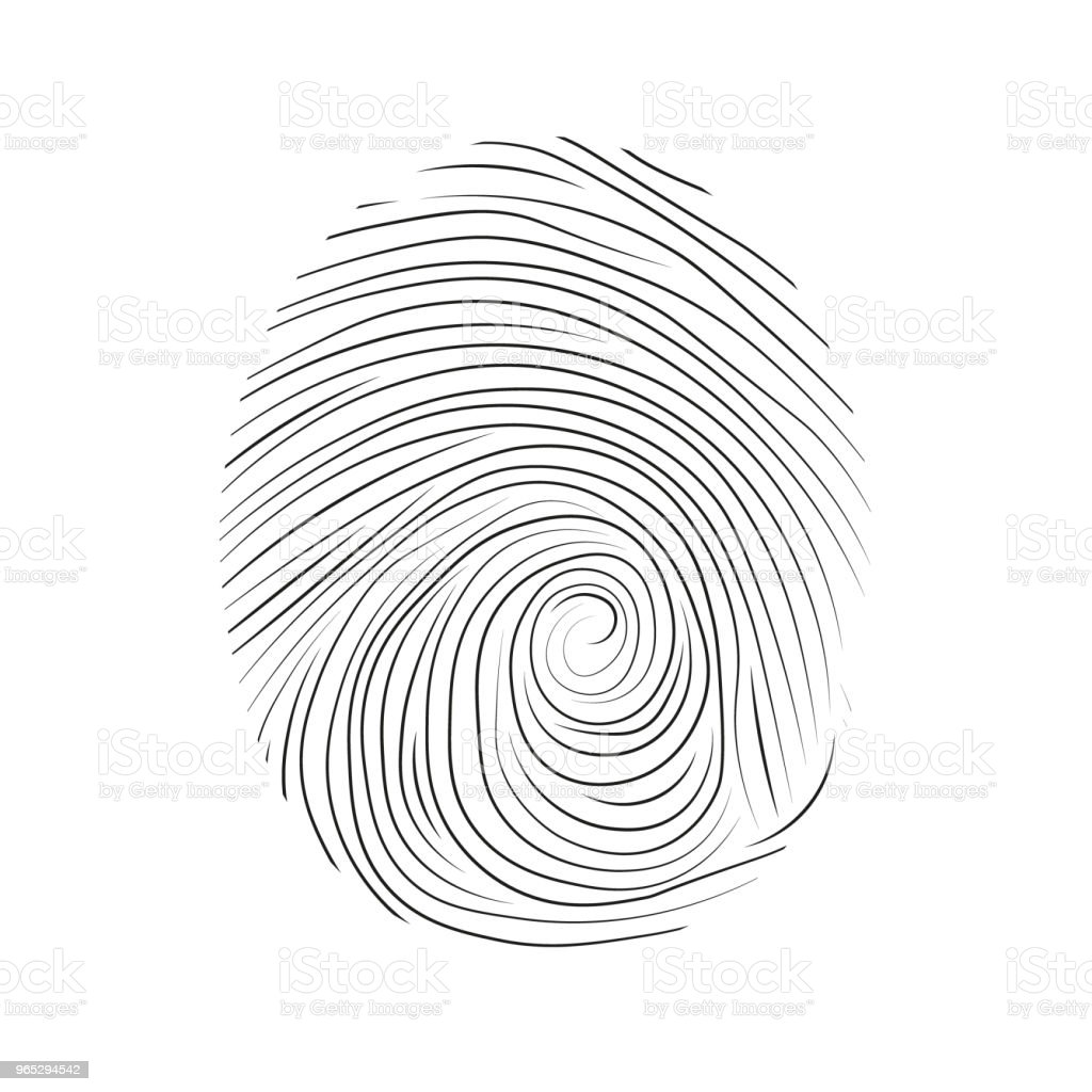 Fingerprint icon royalty-free fingerprint icon stock vector art & more images of abstract