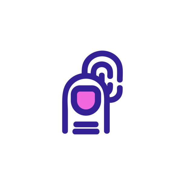 fingerprint icon vector. Isolated contour symbol illustration fingerprint icon vector. Thin line sign. Isolated contour symbol illustration human finger stock illustrations