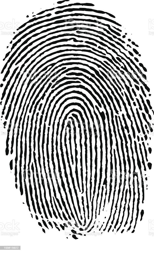 Fingerprint Index (vector) royalty-free stock vector art