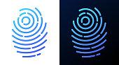 istock Fingerprint Line Symbol 1294019106