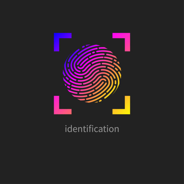 ilustrações, clipart, desenhos animados e ícones de impressão digital, identificação pessoal - identidade
