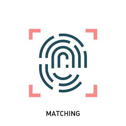 Fingerprint recognition icon.