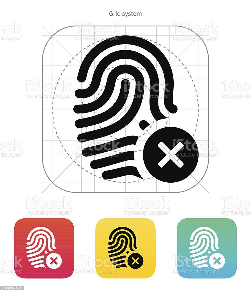 Fingerprint rejected icon. royalty-free stock vector art