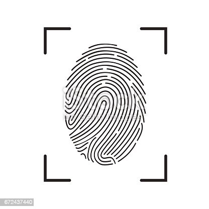 Fingerprint Scan Icon Stock Vector Art & More Images of ...