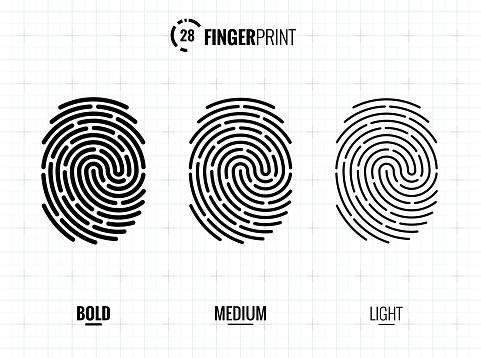 Fingerprint Scan Icons