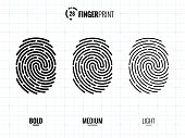 Fingerprint Scan Icons