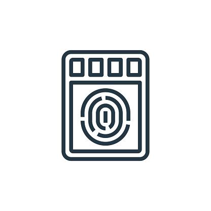 fingerprint scanner icon vector from smarthome concept. Thin line illustration of fingerprint scanner editable stroke. fingerprint scanner linear sign for use on web and mobile apps, logo, print .