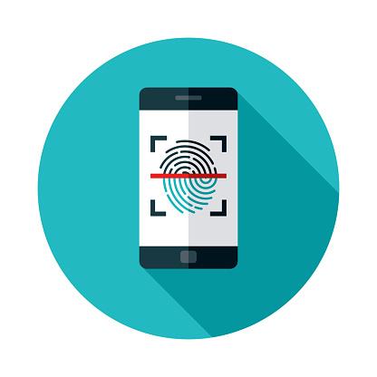 Fingerprint Scanner Online Security Icon
