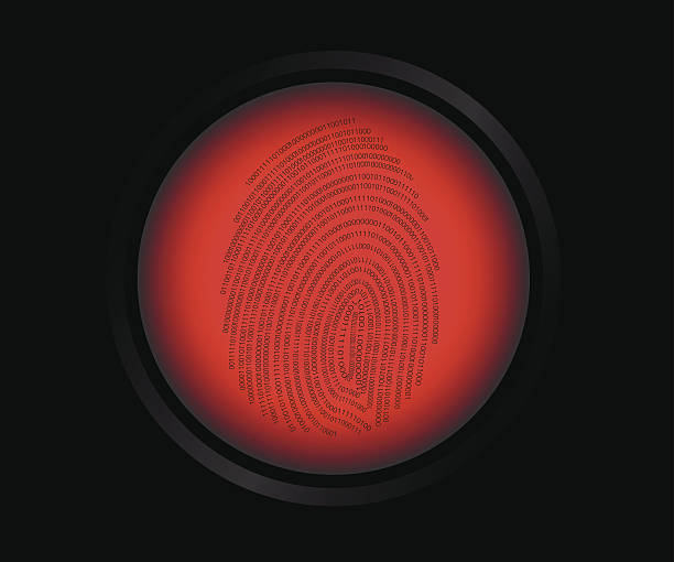 指紋スキャン - id盗難点のイラスト素材/クリップアート素材/マンガ素材/アイコン素材