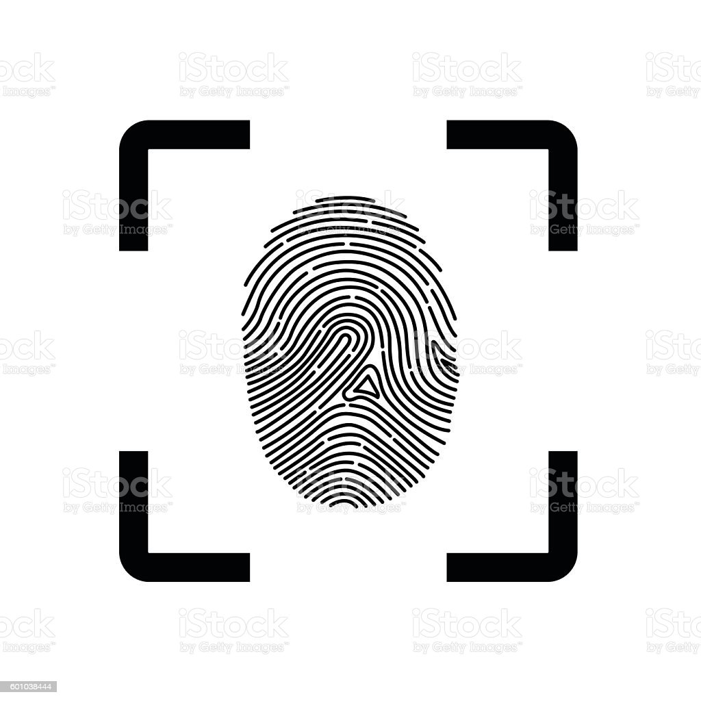 Fingerprint Scope vector art illustration