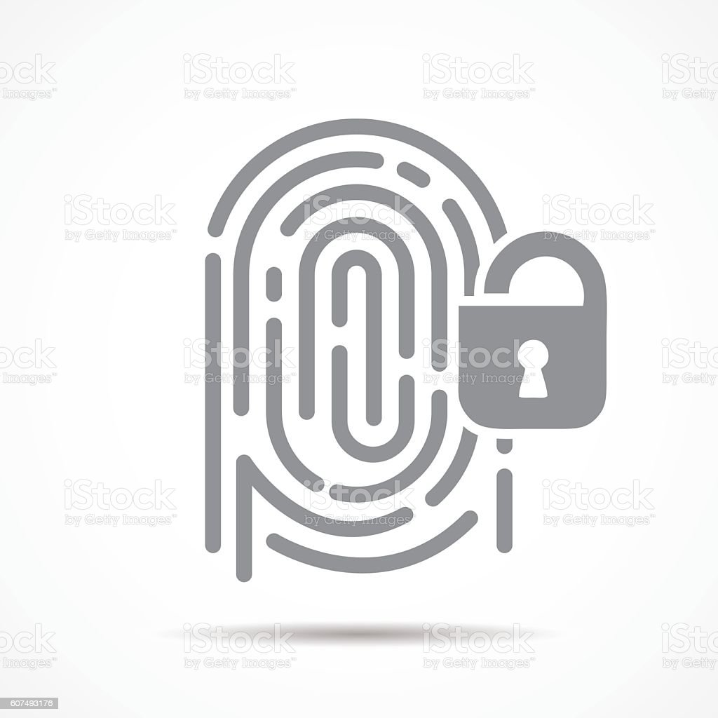 fingerprint security - ilustración de arte vectorial