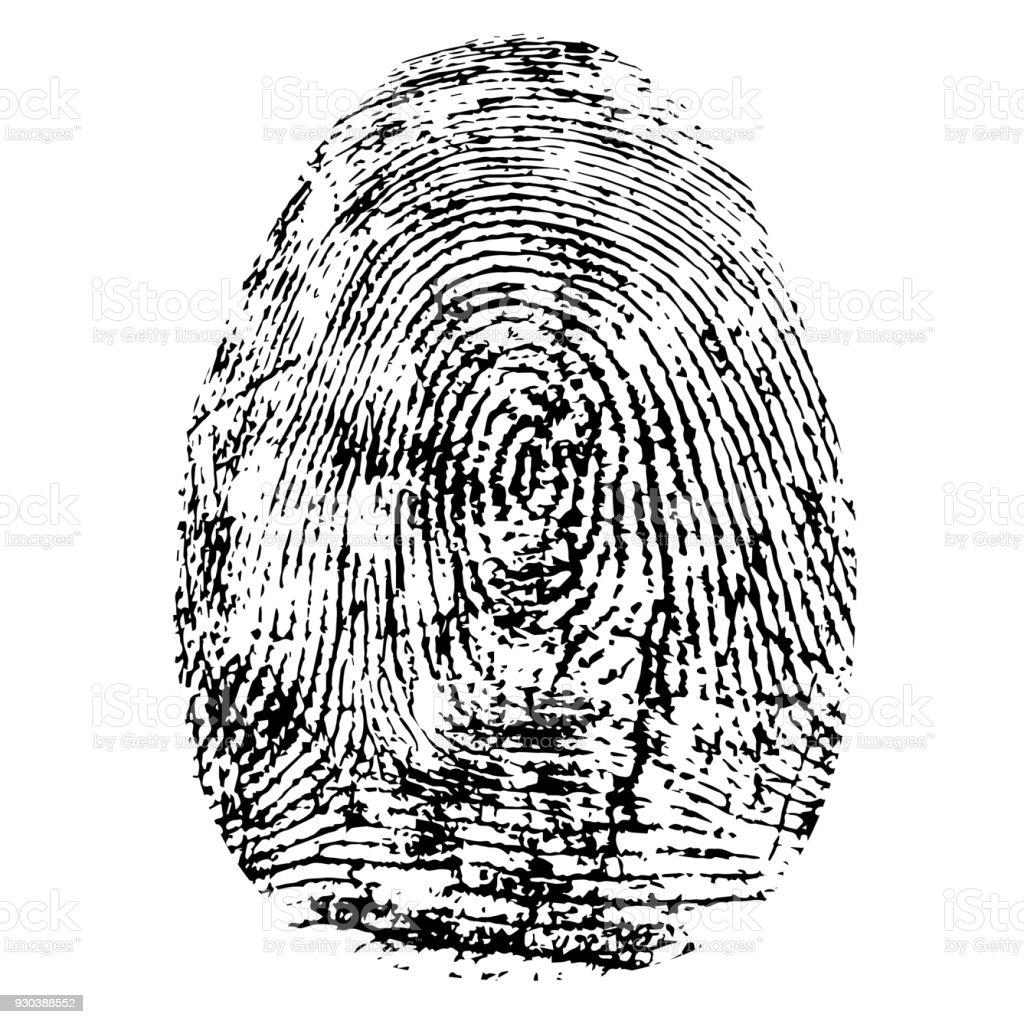 Genial Bild Fingerabdruck Galerie Von Fingerabdruck, Silhouette Vektor. Dactylogram Isoliert Auf Weißem