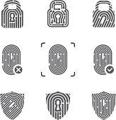 Fingerprint technology logos
