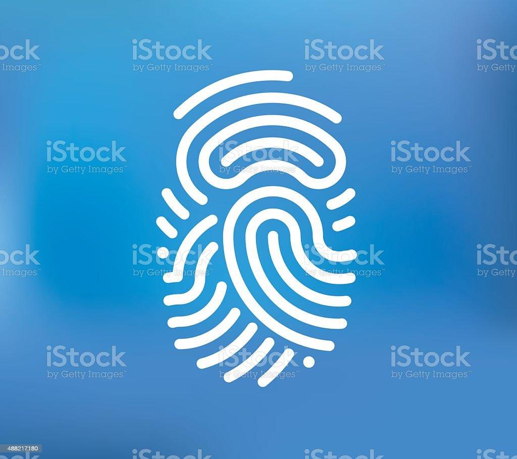 Fingerprint vector icon vector art illustration