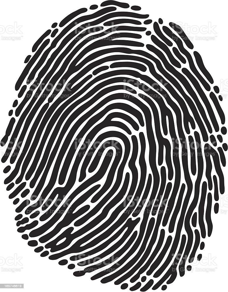 Fingerprint royalty-free fingerprint stock vector art & more images of bar code reader