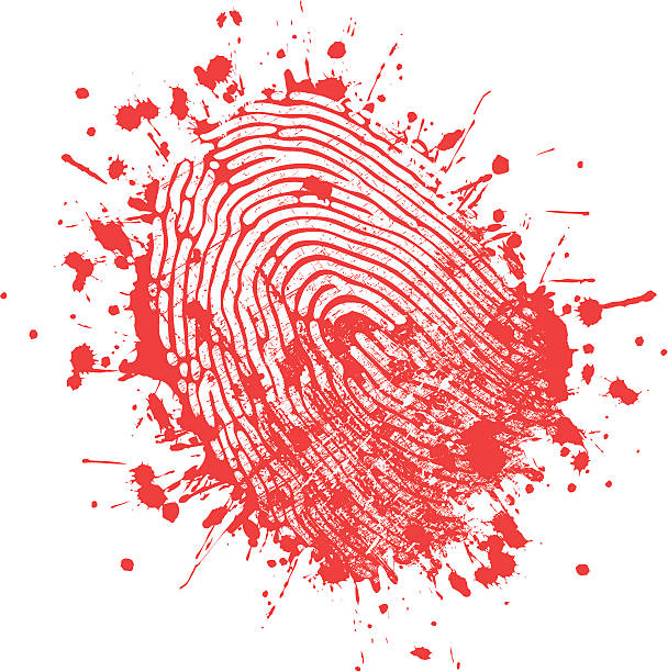 Fingerprint A fingerprint has left a mark. Please check out my other images :) crime scene stock illustrations