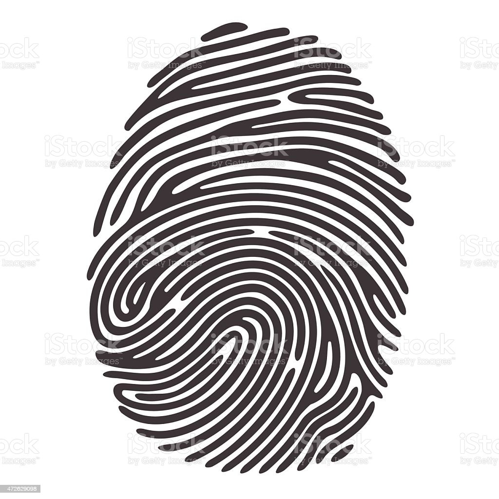 Fingerprint vector art illustration