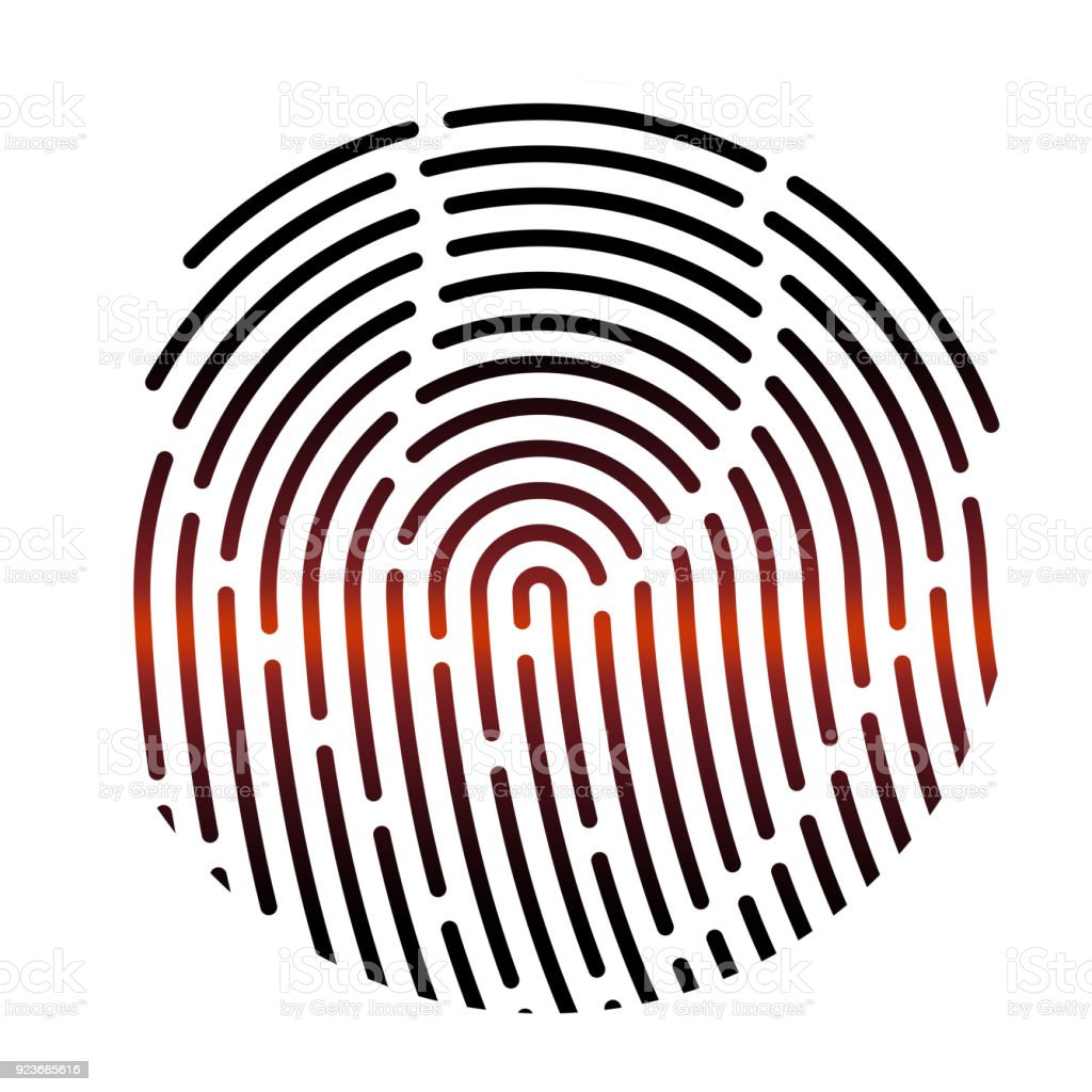 fingerprint vector illustration security system digital lock stock rh istockphoto com fingerprint vector art free clean fingerprinting victorville