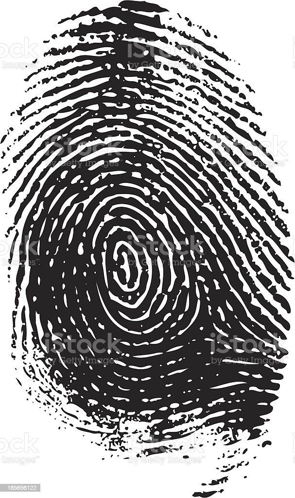 Fingerprint vector royalty-free stock vector art