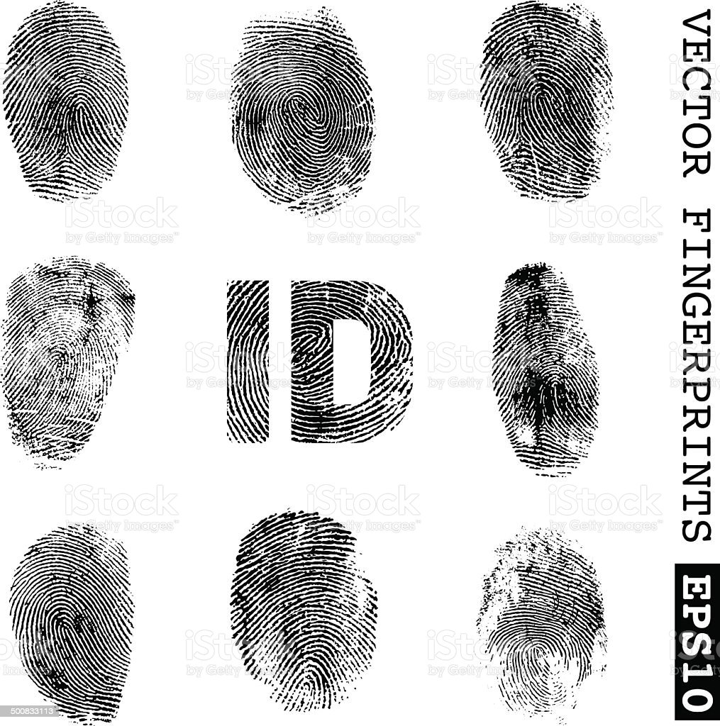 Fingerprints vector art illustration