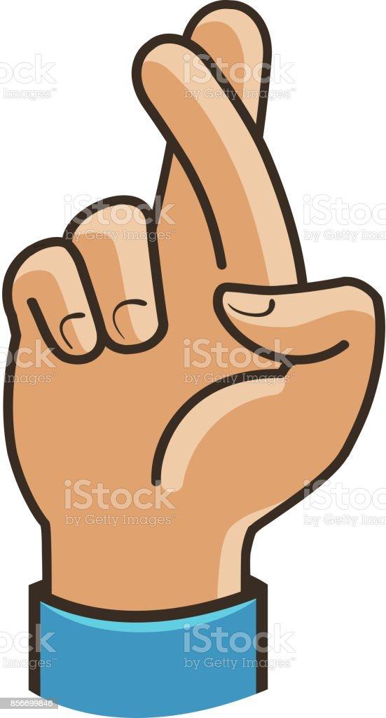 Vingers Gekruist Symbool Gebaar Van Goed Geluk Fortuin Leugen Misleiding  Cartoon Vectorillustratie Stockvectorkunst en meer beelden van Gebaren -  iStock