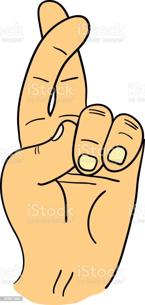 royalty free fingers crossed clipart clip art vector images rh istockphoto com keeping my fingers crossed clipart