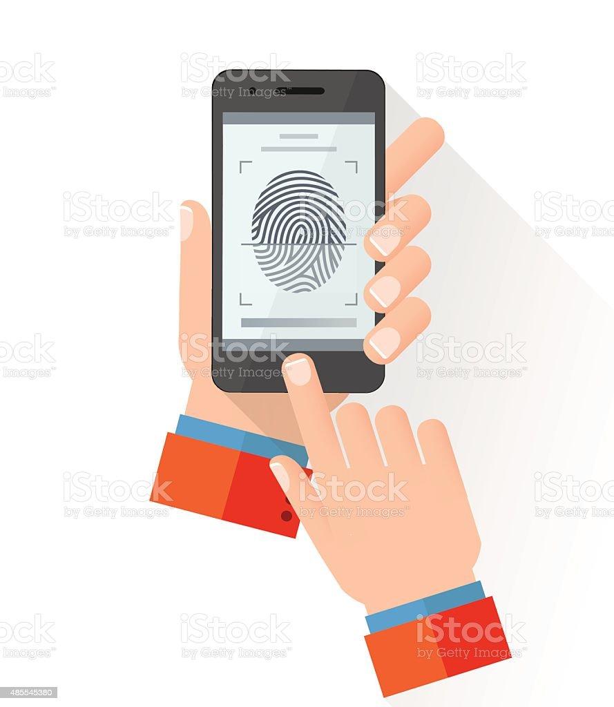 Fingerscan vector art illustration
