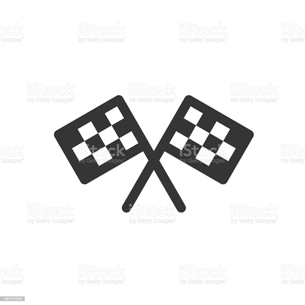 Finish Flag Icon vector art illustration