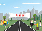 Finish line and cup