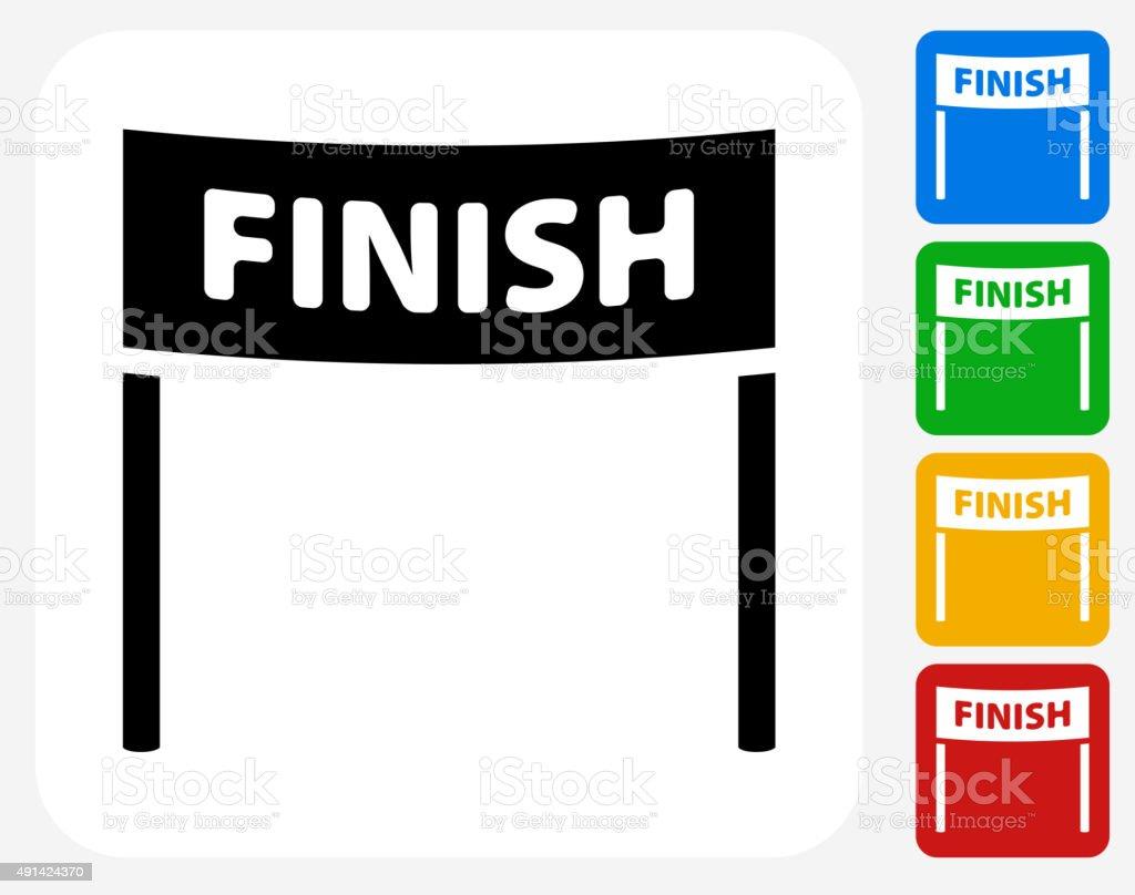 Finish Line Icon Flat Graphic Design vector art illustration