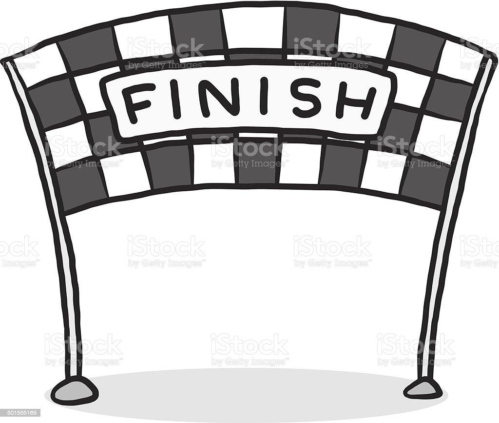 finish line vector art illustration