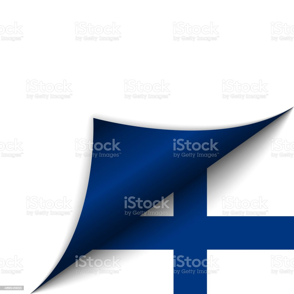 Finland Country Flag Turning Page vector art illustration