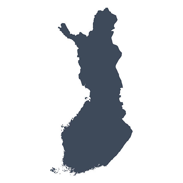 핀란드 국가 지도 - 핀란드 stock illustrations