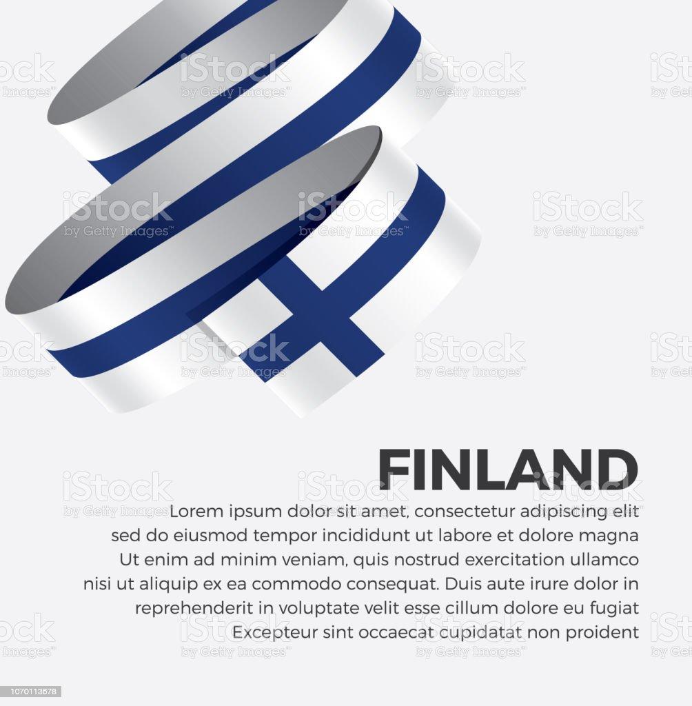 Finnland Flagge Hintergrund – Vektorgrafik