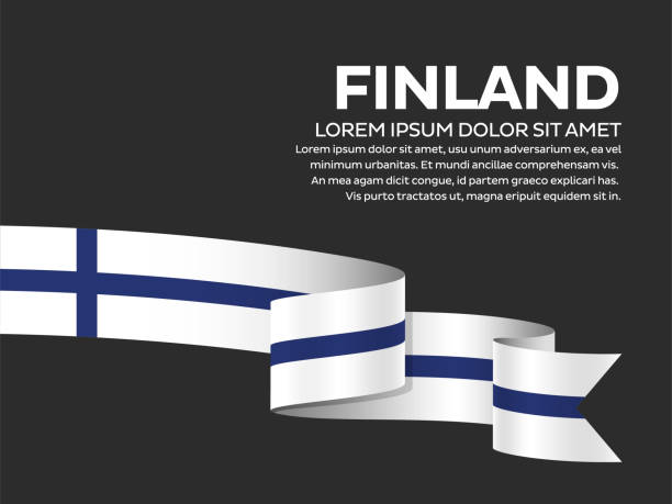 finland flag background - finnish flag stock illustrations, clip art, cartoons, & icons