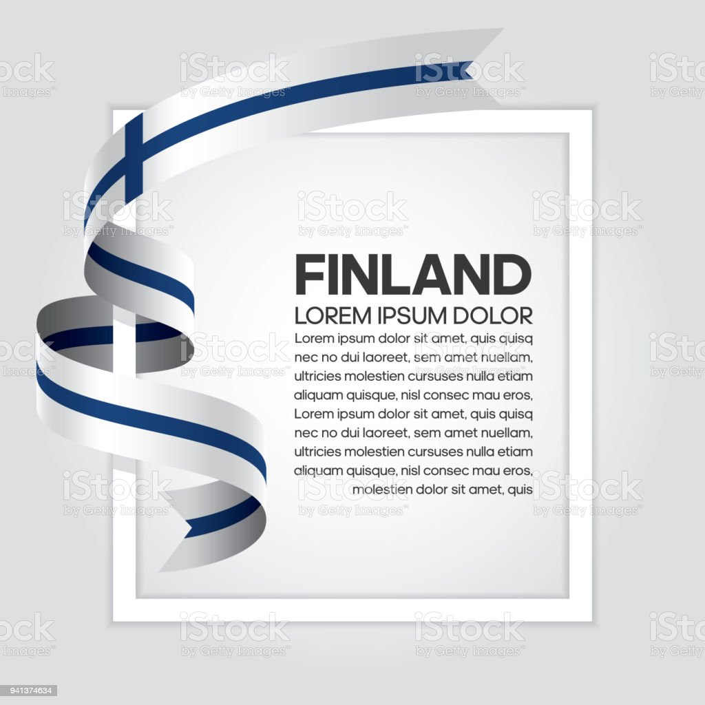 Finland flag background vector art illustration