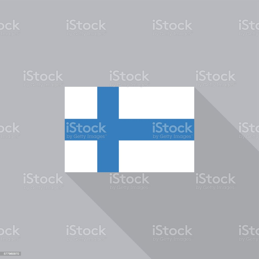Finland flag flat design vector illustration vector art illustration