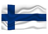 Finland Flag Icon. National Flag Banner. Cartoon Vector illustration.