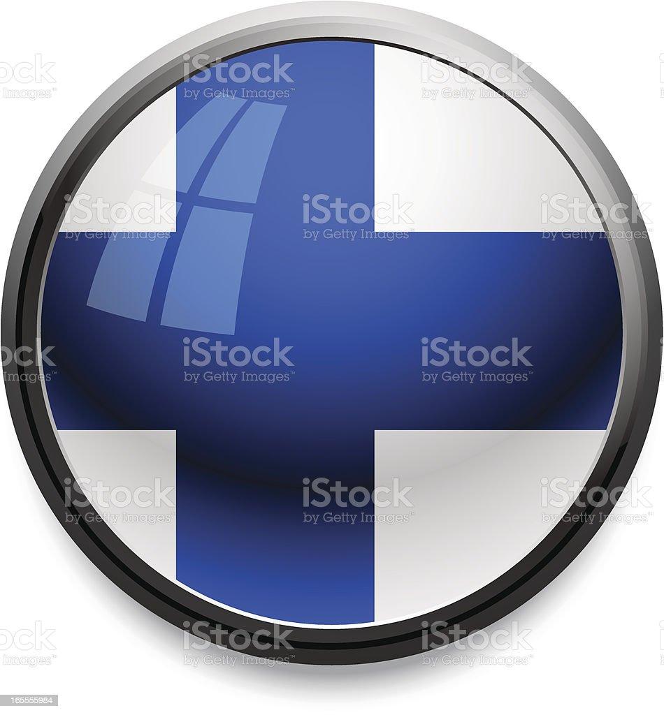 フィンランド-旗のアイコン ベクターアートイラスト