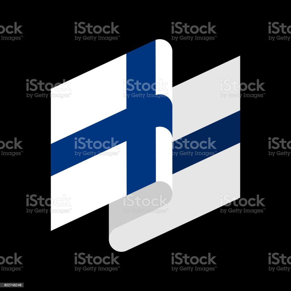 Finnland Flagge isoliert. Finnische Band Banner. Staatssymbol – Vektorgrafik