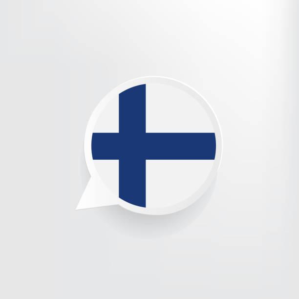 ilustraciones, imágenes clip art, dibujos animados e iconos de stock de burbuja de discurso de bandera de finlandia - bandera finlandesa