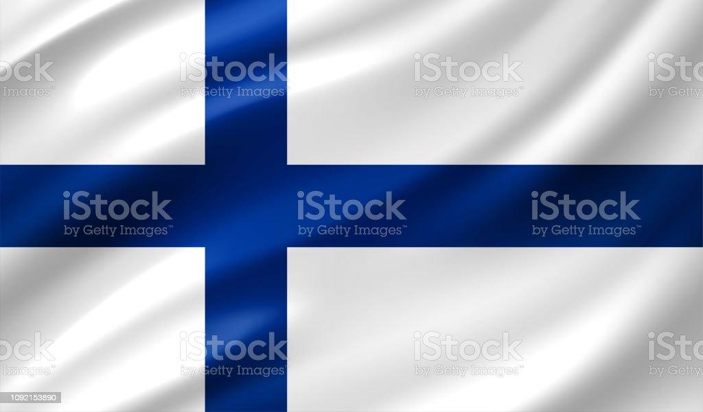 Finnland Flagge – Vektorgrafik