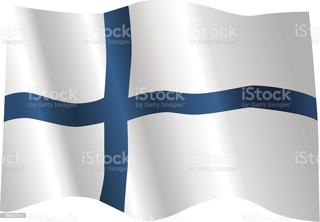 Finland Flag royalty-free stock vector art